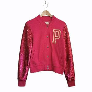 VS PINK Limited Edition Sequins Varsity Jacket